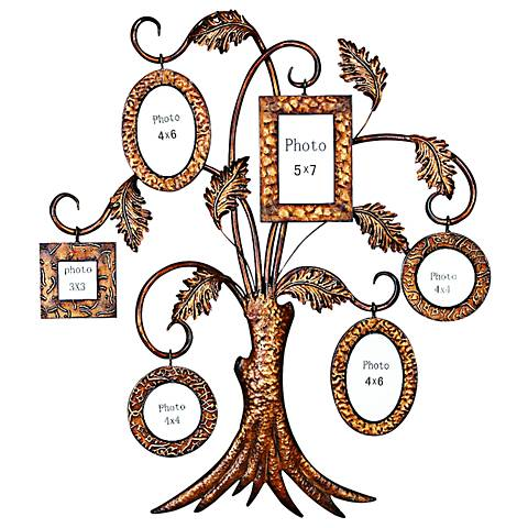 "My Precious Photo Tree 33"" High 6-Frame Gold Wall Art"