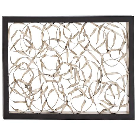 Metal Wall Art Lamps Plus : Twisted Black 60