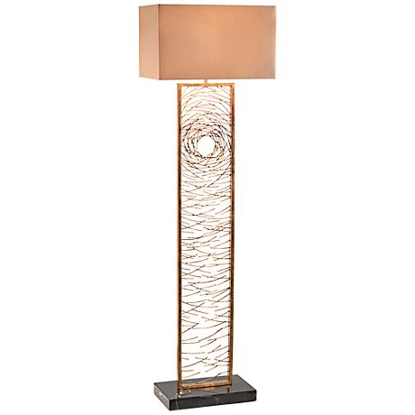John Richard Vortex Antique Gold Iron Floor Lamp