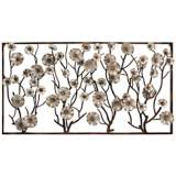 "Flowers in the Window 72"" Wide Metal Wall Art"
