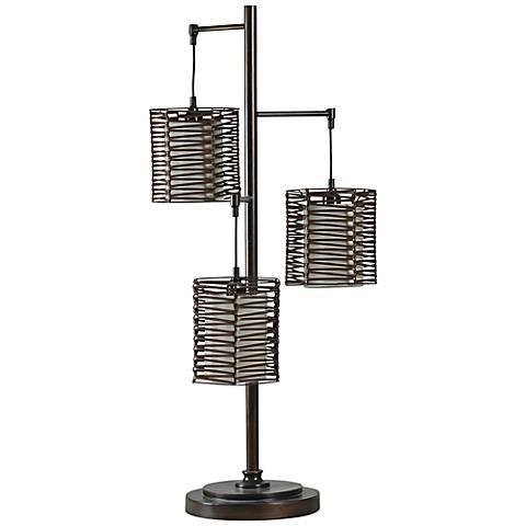 Melville Bronze Metal Lantern Table Lamp