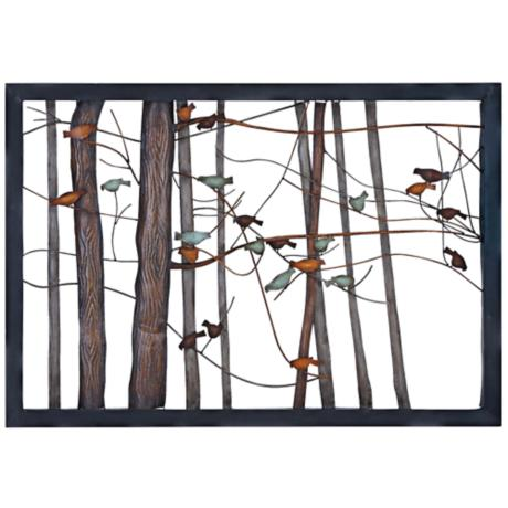 Metal Wall Art Lamps Plus : Birds on Branches 39