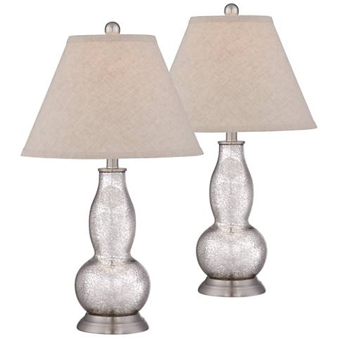 Aurora Mercury Glass Double Gourd Table Lamp Set of 2
