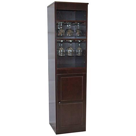 Hayes Valley Cherry Maple Veneer 1-Door Wine Cabinet
