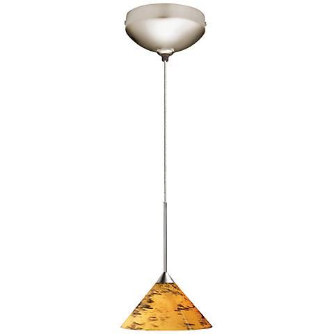 "Juno Amber Drift 5 1/2""W Short Cone Halogen Mini Pendant"