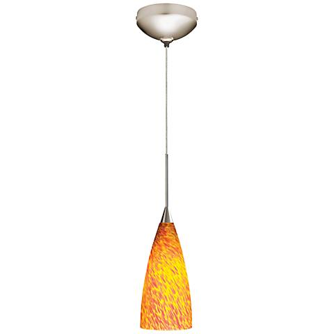 "Juno Inferno 4"" Wide Flute Glass Halogen Mini Pendant"