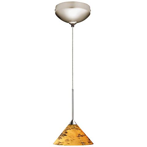 "Juno 5 1/2"" Wide Amber Drift Short Cone LED Mini Pendant"