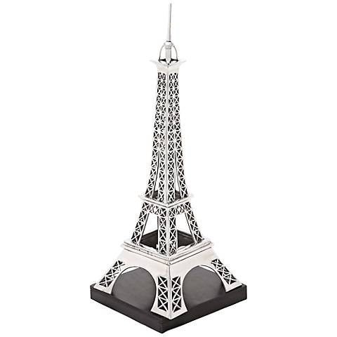 """Eiffel Tower 42"""" High Aluminum Floor Sculpture"""