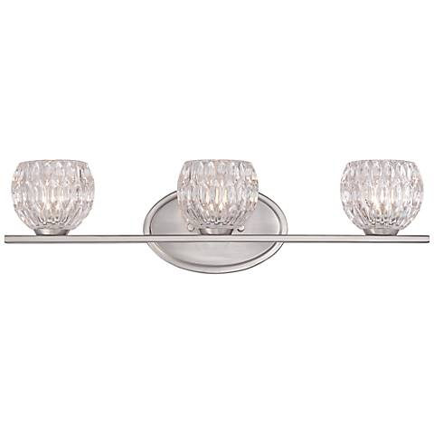 "Oddesa 22"" Wide Satin Platinum Bath Light"
