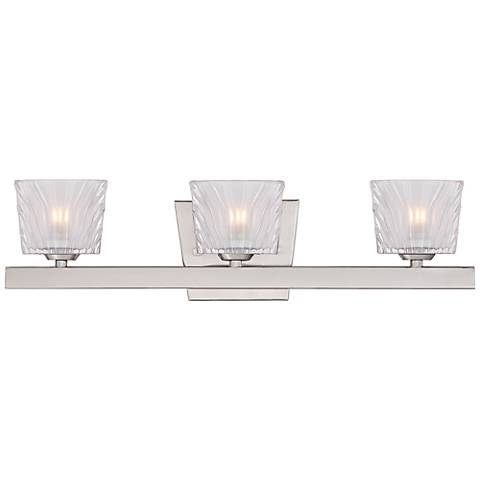 "Volare 20 1/2"" Wide Satin Platinum Bath Light"