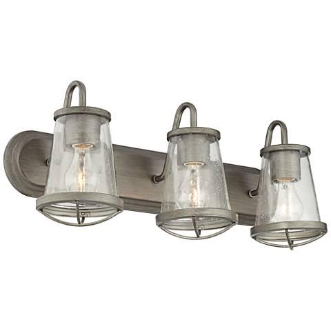 "Darby 24"" Wide Weathered Iron Bath Light"