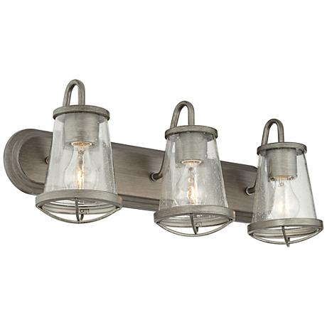 "Darby 24"" Wide Weathered Iron Bath Light"