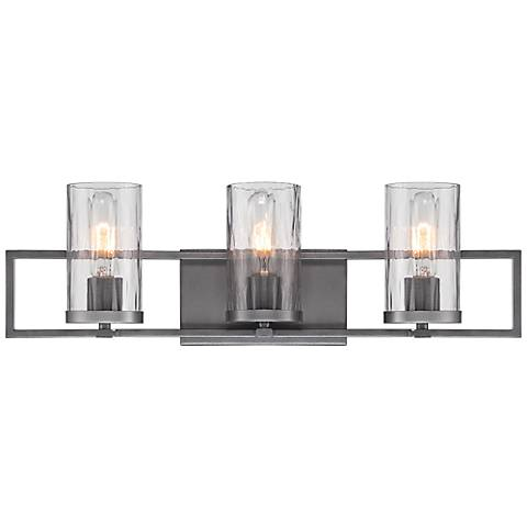 "Elements 3-Light 24"" Wide Charcoal Bath Light"