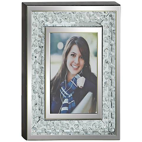 "Elbe Mirror Rhinestones Wood 4""x6"" Box Photo Frame"