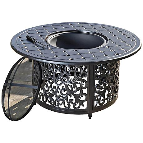 Gatsby Round Charcoal Cast Aluminum Outdoor Firepit