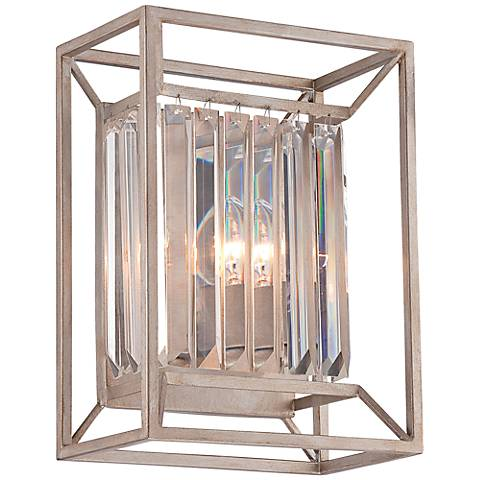 "Linares 12 3/4"" High Aged Platinum Wall Sconce"
