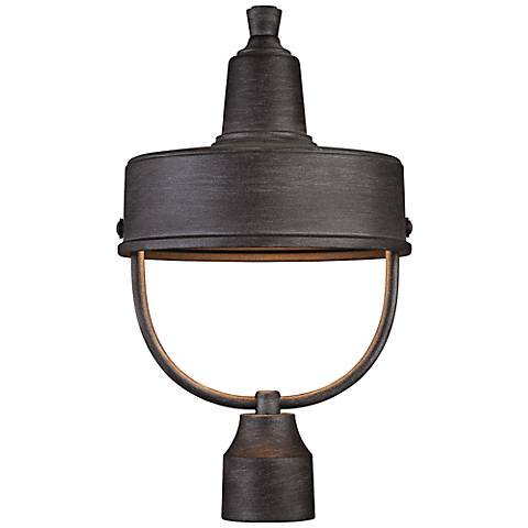 """Portland 17 1/2""""H  Dark Sky Rated Pewter Outdoor Post Light"""