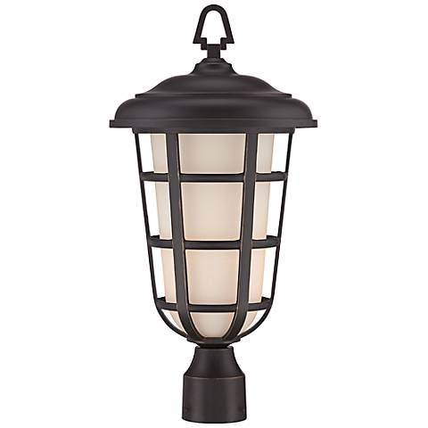 "Triton 20 1/4"" High Aged Bronze Outdoor Post Light"
