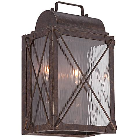 "Colfax 10 3/4"" High Etruscan Bronze Outdoor Wall Sconce"