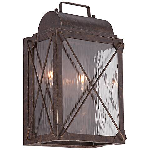 "Colfax 13 3/4"" High Etruscan Bronze Outdoor Wall Sconce"