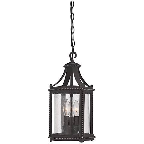 """Palencia 16 1/2""""H Artisan Pardo Wash Outdoor Hanging Lantern"""