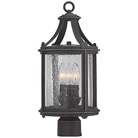 "Palencia 18 1/2""H Artisan Pardo Wash Outdoor Post Lantern"