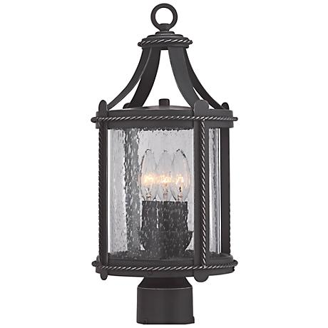 "Palencia 18 1/2""H Artisan Pardo Wash Outdoor Post Lantern"