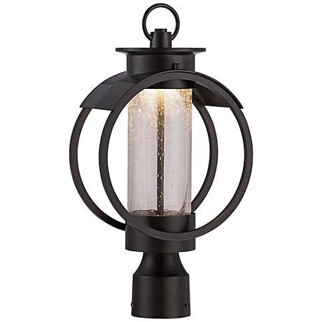 "Arbor 17"" High Burnished Bronze LED Outdoor Post Light"