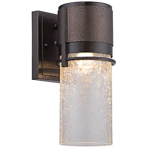 "Baylor 16 1/2""H Two Tone Bronze LED Outdoor Wall Lantern"
