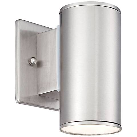 "Barrow 6"" High Satin Platinum LED Outdoor Wall Lantern"