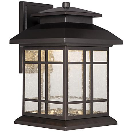 "Piedmont 10 1/4""H Oil Rubbed Bronze LED Outdoor Wall Light"