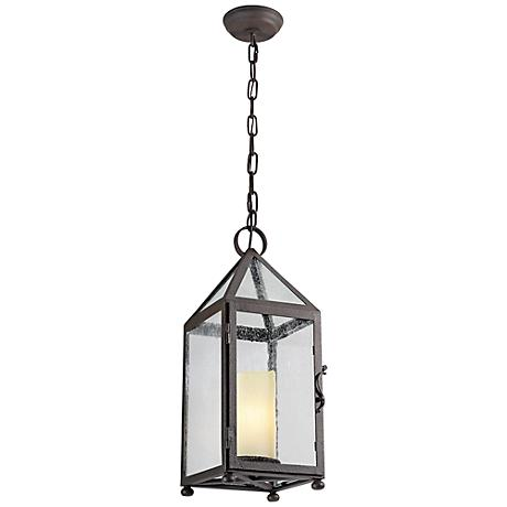 "Hidden Hill 20 3/4""H Foggy Rust Iron Outdoor Hanging Light"