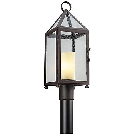 "Hidden Hill 23 1/2""H Foggy Rust Iron Outdoor Post Light"