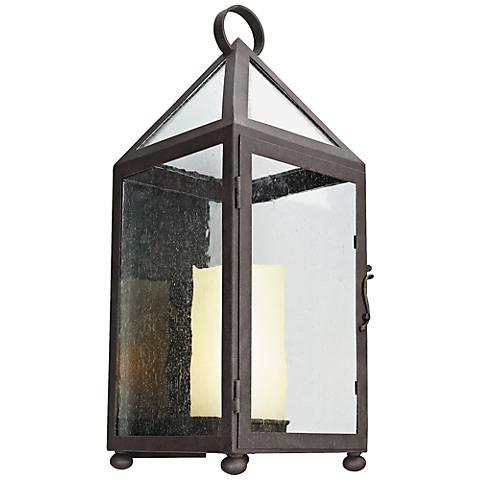 """Hidden Hill 25 3/4""""H Foggy Rust Iron Outdoor Wall Light"""