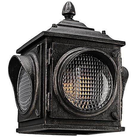 """Main Street 13""""H Aged Pewter Vintage Outdoor Wall Light"""