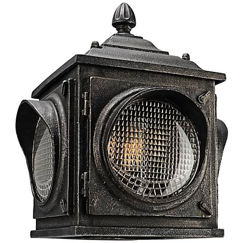 """Main Street 16""""H Aged Pewter Vintage Outdoor Wall Light"""