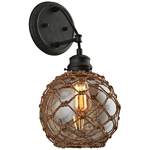 "Outer Banks 16 3/4""H Shipyard Bronze 1-Light Wall Sconce"