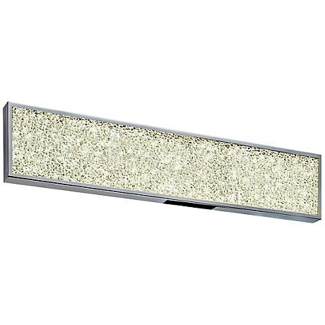 """Sonneman Dazzle 24""""W Fused Glass Chrome LED Bath Light"""
