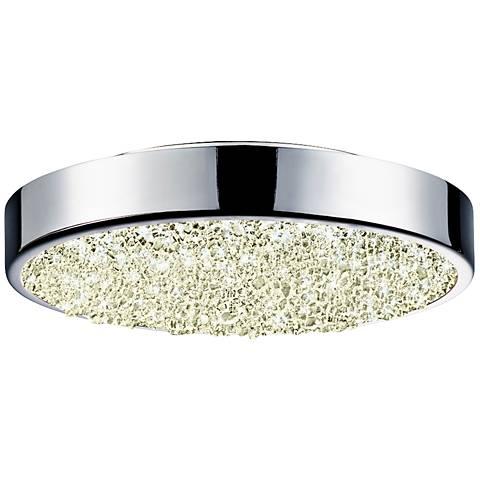 """Sonneman Dazzle 8"""" Wide Round Chrome LED Ceiling Light"""