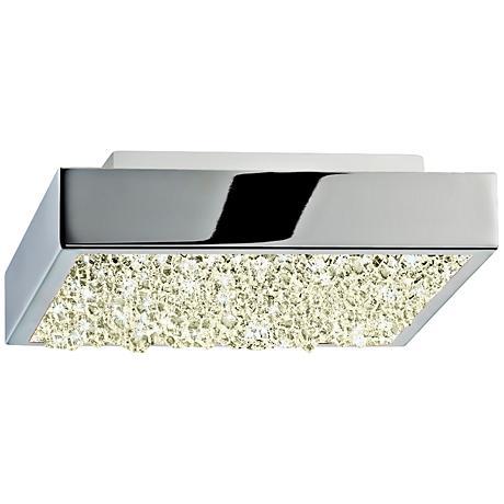 """Sonneman Dazzle 6"""" Wide Square Chrome LED Ceiling Light"""