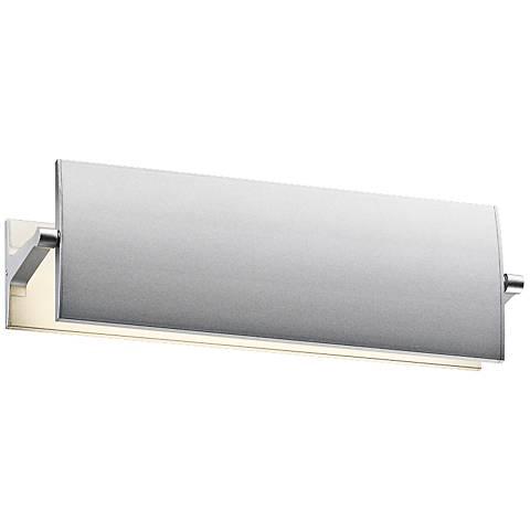 """Sonneman Aileron 4"""" High Satin Aluminum LED Wall Sconce"""