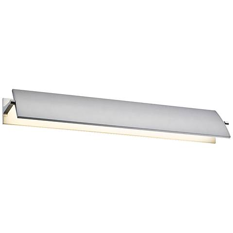 "Sonneman Aileron 24"" Wide Satin Aluminum LED Bath Light"