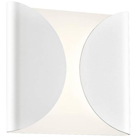 "Sonneman Folds 8"" High Textured White LED Wall Sconce"