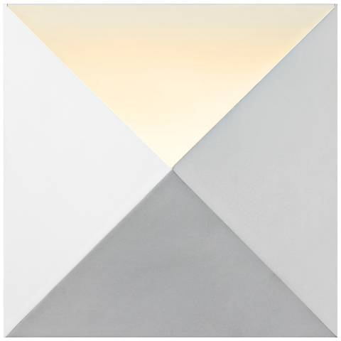 """Sonneman Prism 8"""" High Textured White LED Wall Sconce"""