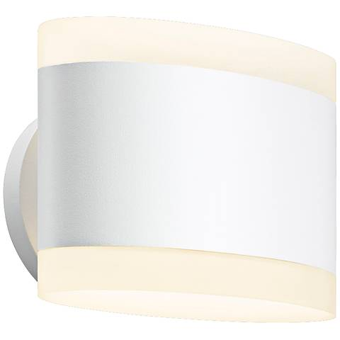 "Sonneman Ellipses 5 1/2"" High Textured White LED Wall Sconce"