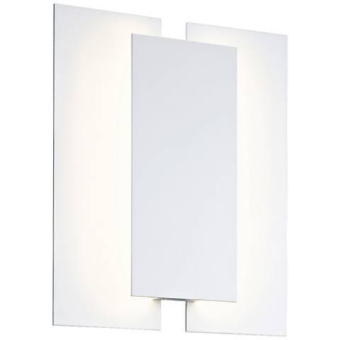 """Sonneman Batten 11"""" High Textured White LED Wall Sconce"""