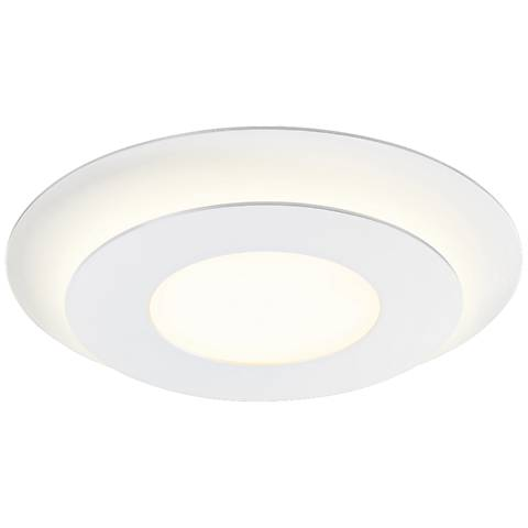 "Sonneman Offset 16"" Wide Textured Round LED Ceiling Light"