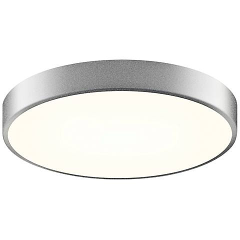 "Sonneman Pi 16""W Satin Aluminum Round LED Ceiling Light"