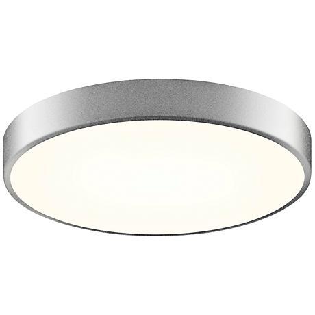 """Sonneman Pi 16""""W Satin Aluminum Round LED Ceiling Light"""
