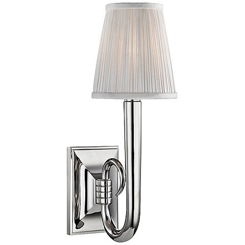 """Hudson Valley Douglas 16 1/2""""H Polished Nickel Wall Sconce"""